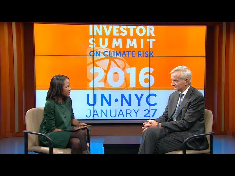 Investor Summit on Climate Risk: Interview with Denis Duverne, AXA