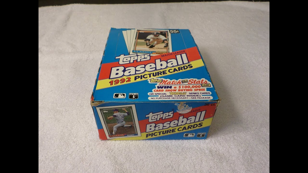 Opening A Box Of 1992 Topps Baseball Cards Part 1