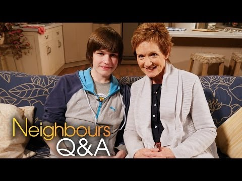 Neighbours Q&A: Jackie Woodburne Susan and Calen Mackenzie Bailey Part 1