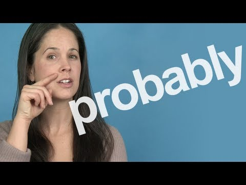 How to Pronounce PROBABLY - American English