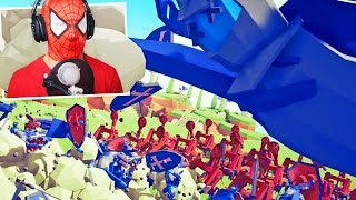 SPIDERMAN PLAYS TOTALLY ACCURATE BATTLE SIMULATOR | TABS Part 5 - Pungence