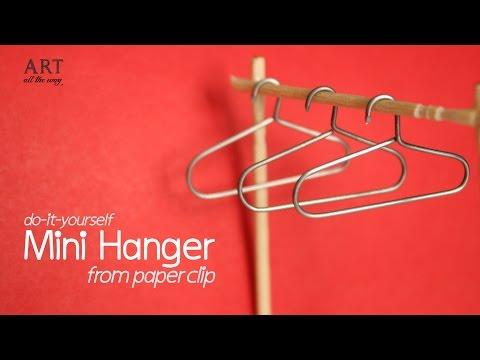 DIY: Mini Hanger from Paper Clip - For Miniature Wardrobe