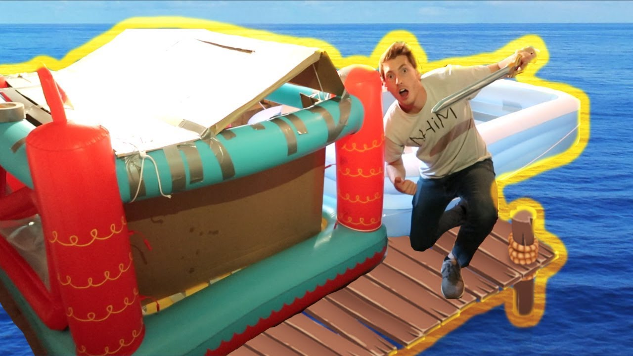 Building A Pirate Ship Raft Youtube