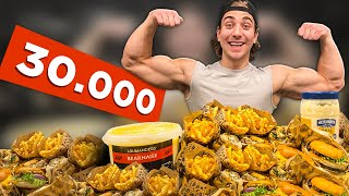 30,000 CALORIE CHALLENGE AT 20 YEARS OLD!