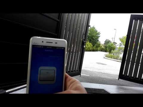 Auto gate wifi control device