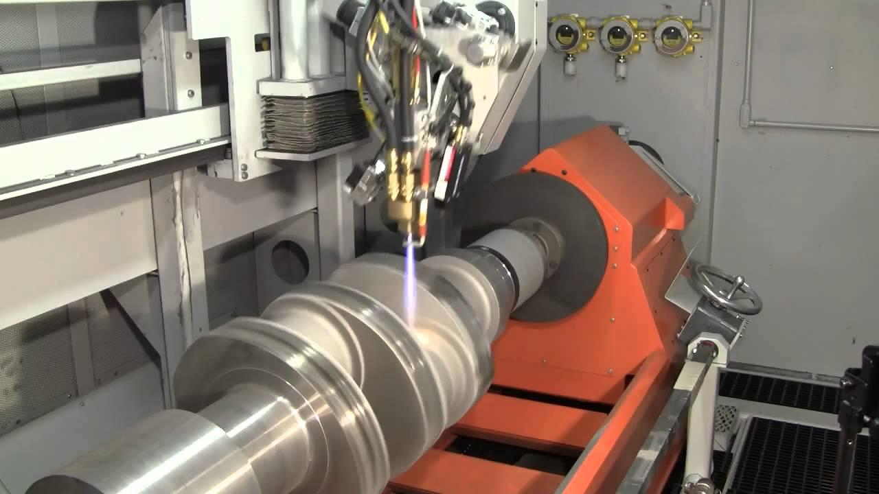 Heavy Equipment Overhaul Crankshaft Coating by HVOF