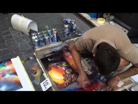 Spray Paint Art: Rome, Italy
