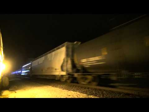 Trains at Night on the CN Chicago Sub