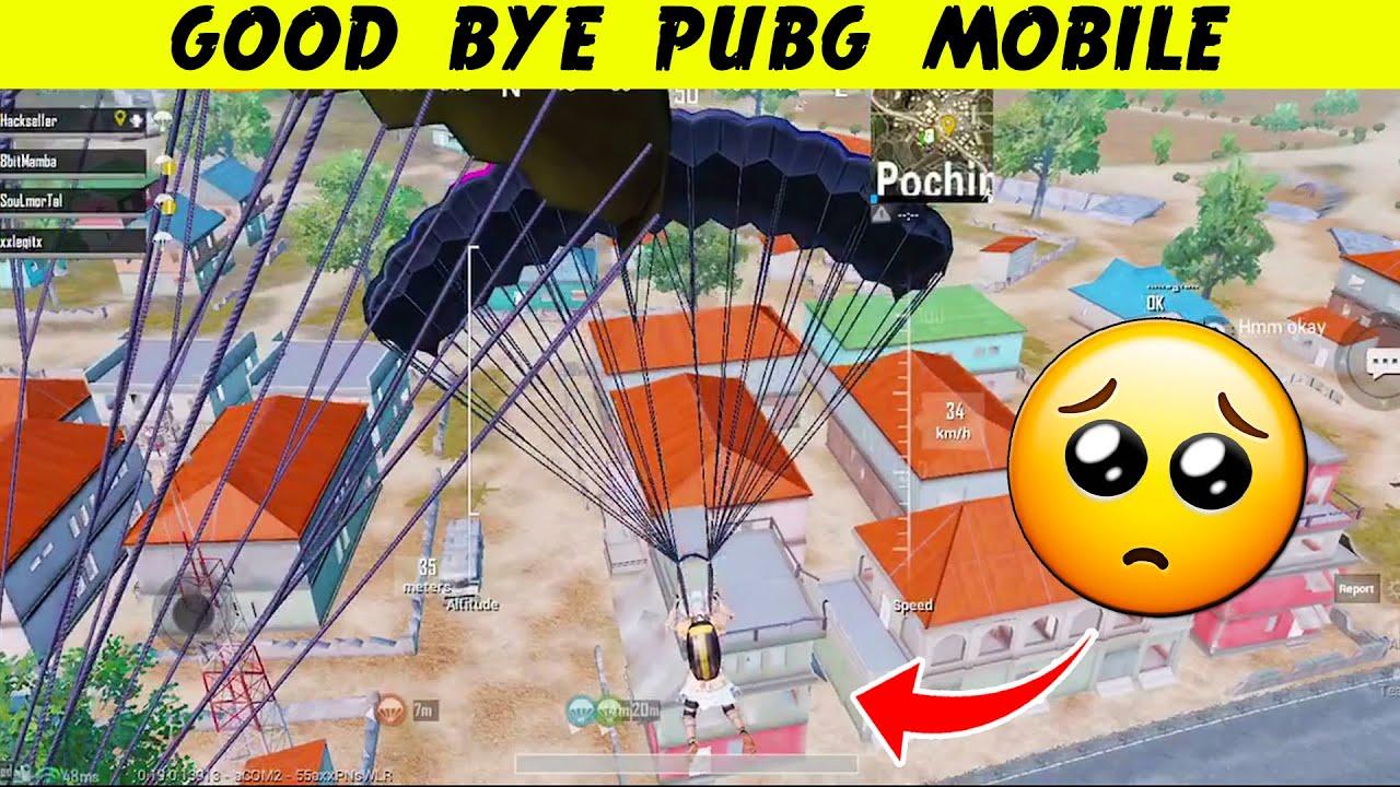 My LAST Pubg MOBILE Game... GOOD Bye PUBG BAN