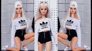 Para a Barbie - short preto feito a mão D.I.Y.