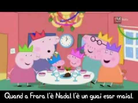 Peppa Pig Il Compleanno Di Natale.Peppa Pig In Ferrarese Ii Canto Di Natale Di Peppa La Vera Youtube