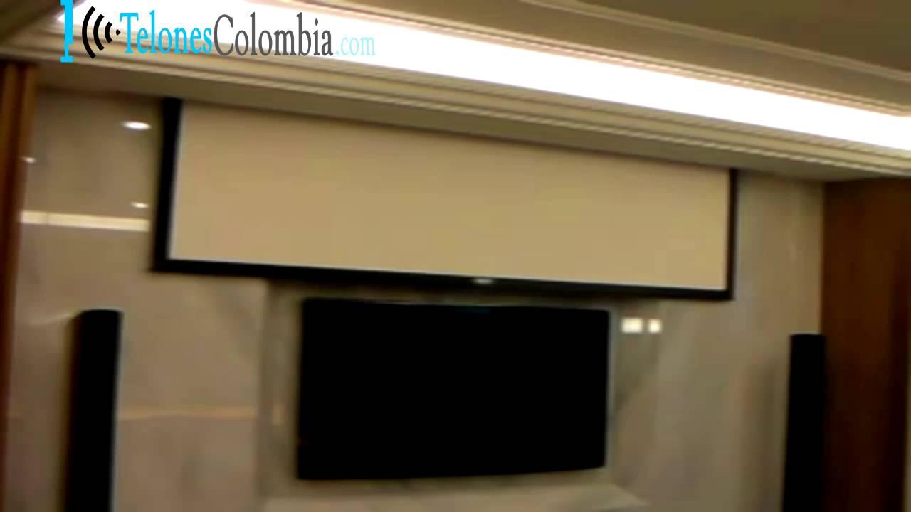 Nueva instalacion pantalla de v deo proyector en casa for Pantalla proyector electrica