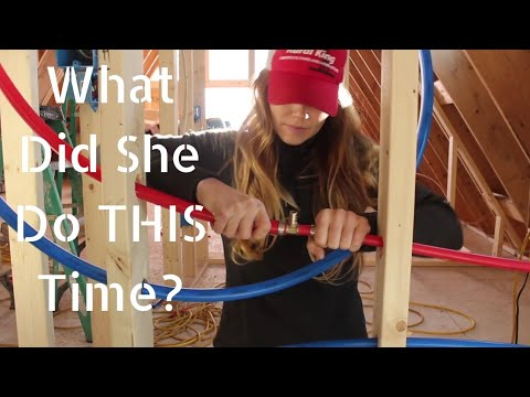 #22 How First Time Home Builders Rough In Plumbing- PEX Pipe