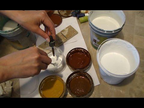 Мастер Класс Как колеровать лессирующую и кроющую краску своими руками