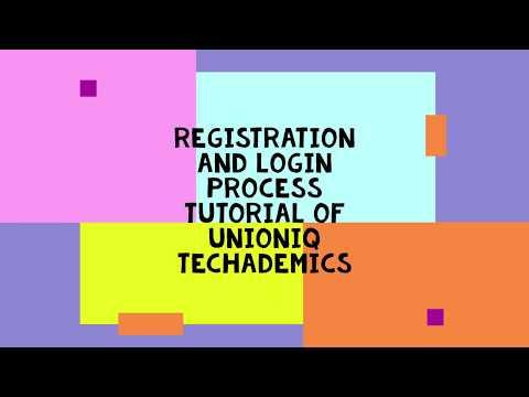 Unioniq Techademics Mock Test  Registration And Login Process Tutorial   Unioniq Techademics
