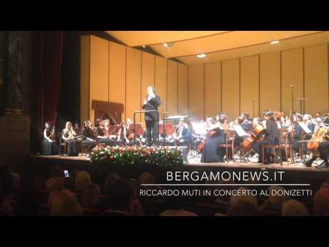 Riccardo Muti in concerto al Teatro Donizetti