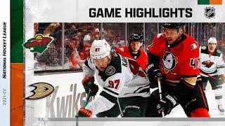 Wild @ Ducks 10/15/21 | NHL Highlights