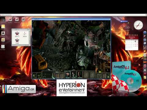 Gorky 17 running on an AmigaOne X1000 with AmigaOS 4.1 FE installed