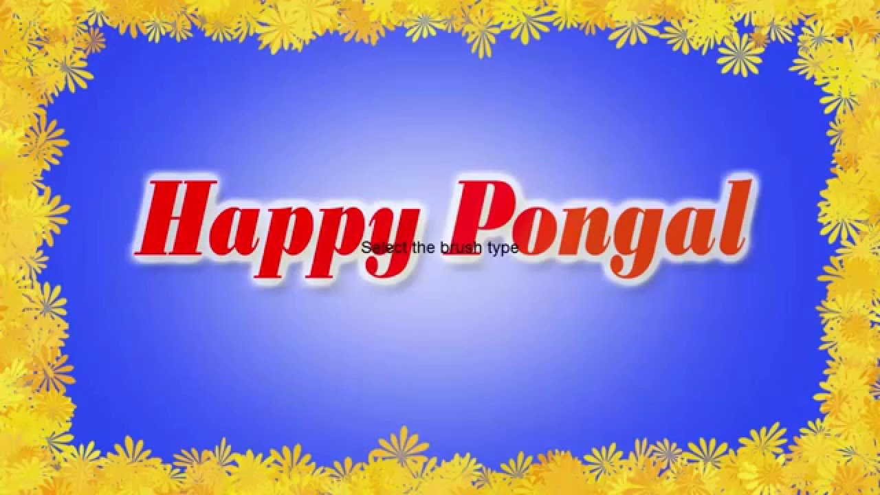 How to make happy pongal greeting card phtoshop tutorials youtube m4hsunfo