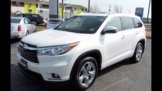 2016 Toyota Highlander Limited Platinum Walkaround, Start up, Tour and Overview