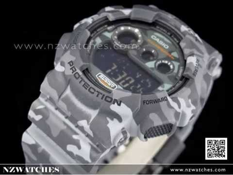 Casio G-SHOCK Military Camouflage Sport Watch GD-120CM-8, GD120CM