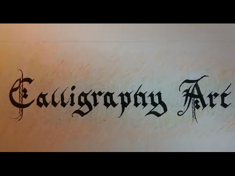 calligraphy art youtube