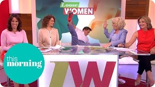 John Barrowman Falls Off His Chair During The Loose Women Promo | This Morning