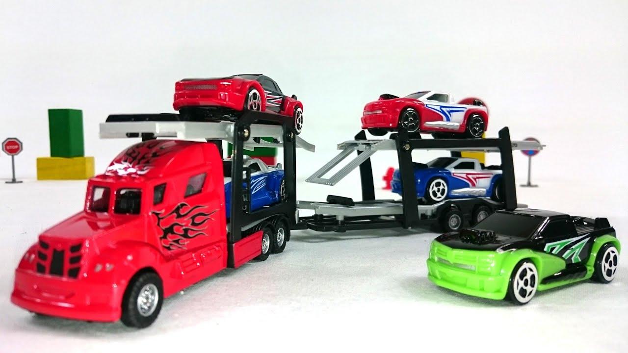 Машинка автовоз игрушка