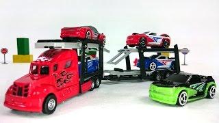 Видео про машинки: Автовоз Dickie Toys: Веселая песенка про машинки:  Развивающие игрушки для детей