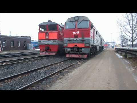 Локомотивное депо и ПТОЛ в городе Дно