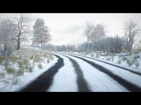 Hazard perception test: sample clip - driving in snow