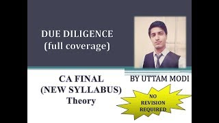 Due Diligence Part I - AUDIT Learn With A Story
