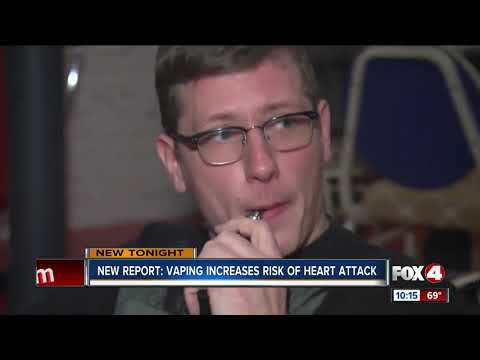 New study says vaping could increase risks of heart attack