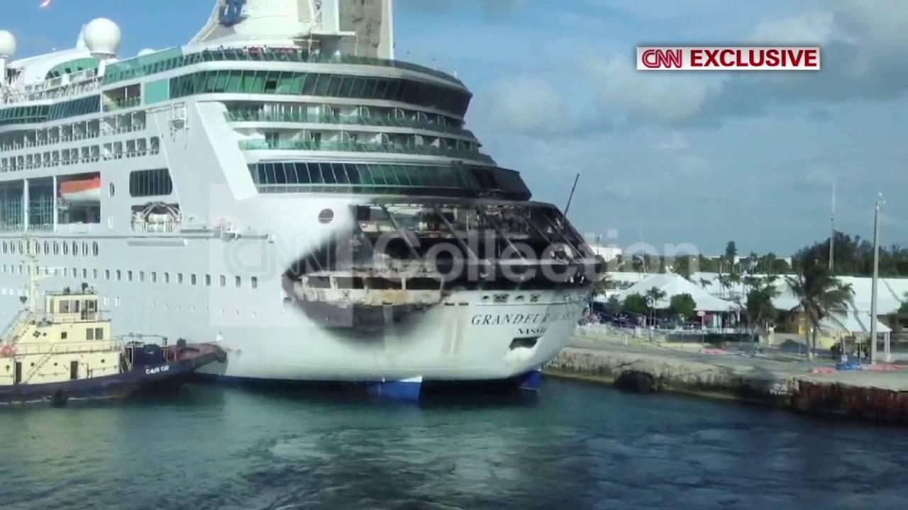BAHAMASROYAL CARIBBEANS FIRE DAMAGED CRUISE SHIP YouTube - Cruise ship damaged