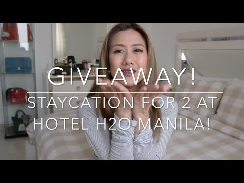(CLOSED) Giveaway! Overnight Staycation for 2 at Hotel H2O Manila's Aqua Room! (CLOSED)
