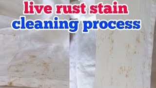 Live rust stain cleaning process...redlin stain remover..