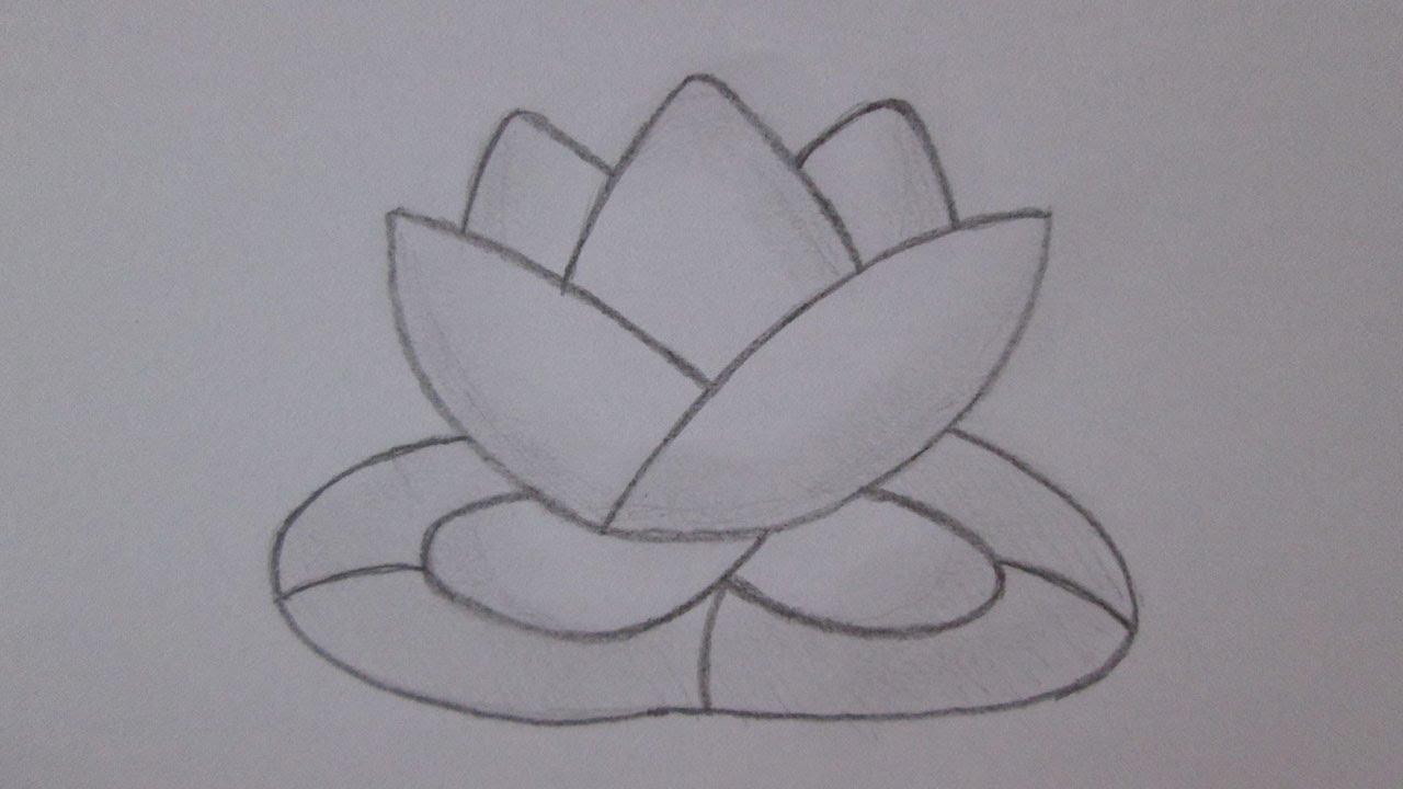 Cómo Dibujar Una Flor De Loto Youtube
