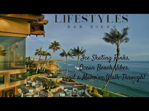 Lifestyles San Diego Hits the Ice Skating Rink, Enjoys the Ocean Breeze & Walk's Through a Mansion