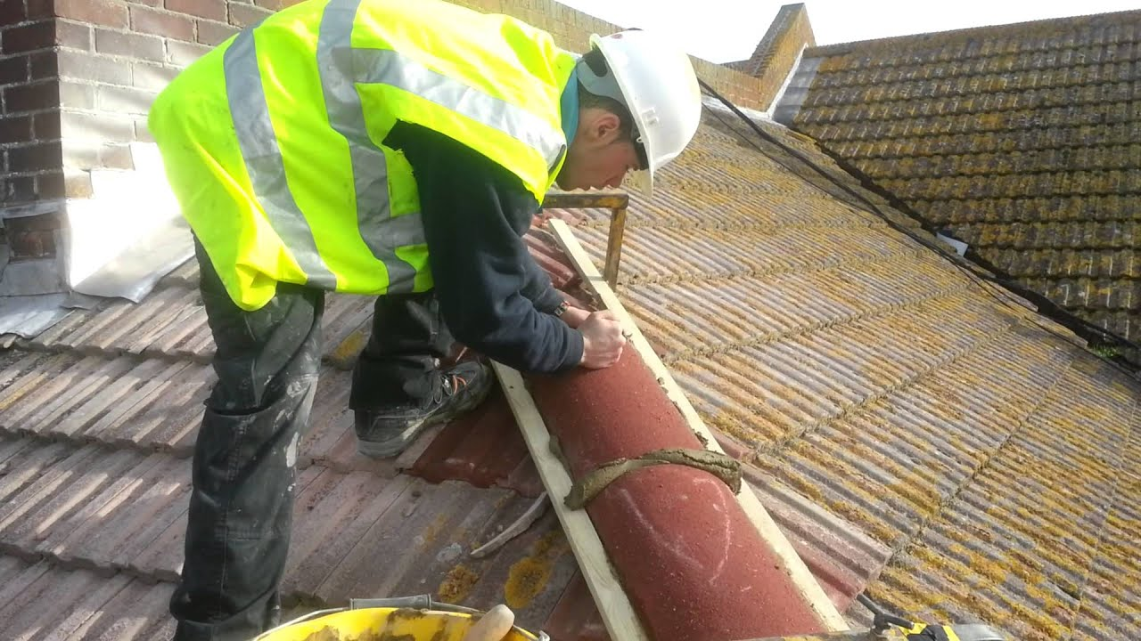 Roofing Bedding Hip Tiles Youtube