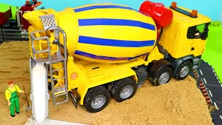 Download Concrete Mixer, Police Cars, Fire Truck, Excavator, Tractor & Garbage Trucks Toy Vehicles for Kids Mp3 and Videos