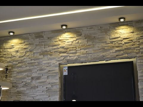 Stone decorative wall decor 4great ways to use them tv in for Stone wall art
