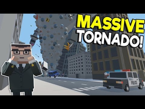 MOST POWERFUL TORNADO RIPS THROUGH CITY! - Tiny Town VR Gameplay - Oculus Rift Game