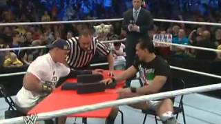 WWE Friday Night SmackDown 15/11/13 Arm Wrestling John Cena Vs Alberto Del Rio