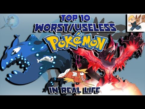 Top 10 Worst/Useless Pokémon in Real Life (Feat. AlmightyMandals)