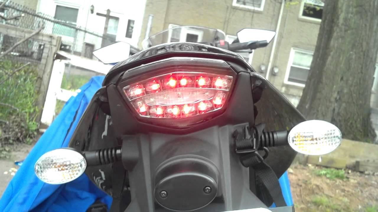 DMP Integrated Tail Light LED Turn signals on Kawasaki Ninja – Kawasaki Ninja 250 Wiring Diagram 2013