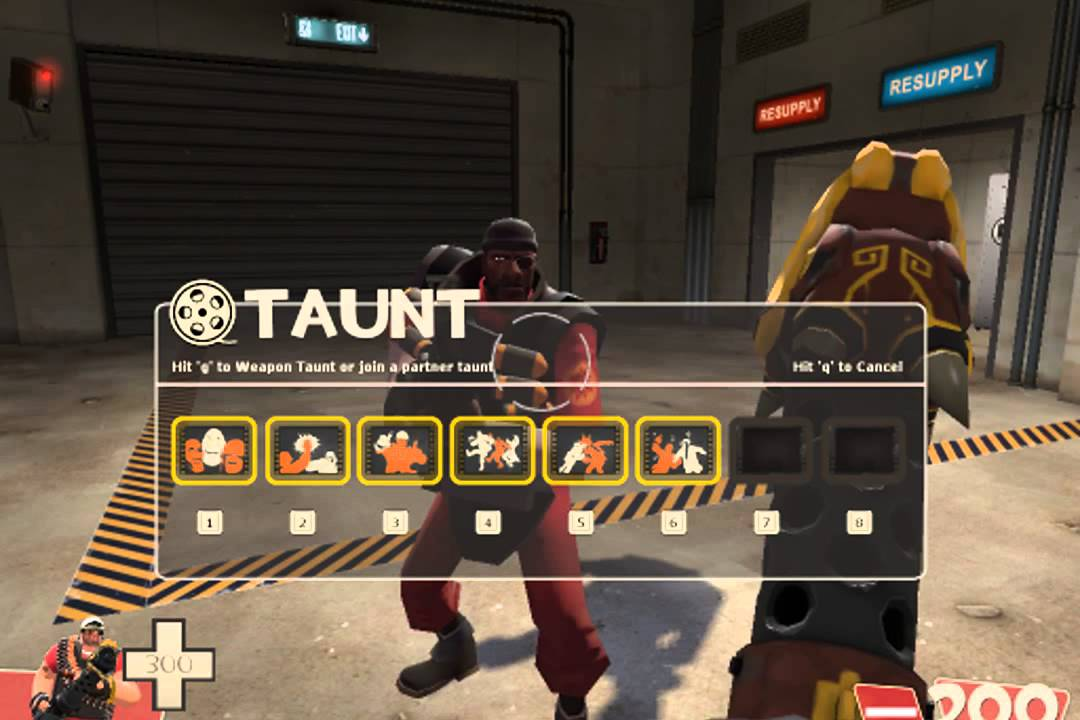 tf2 how to use taunts
