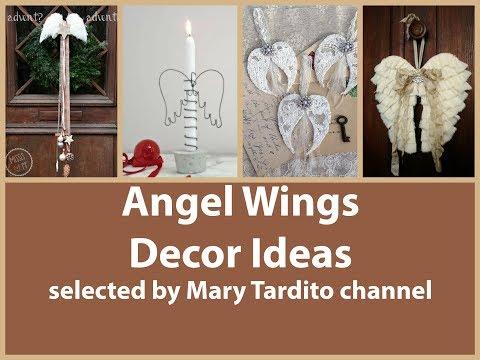 Angel Wings Decor Ideas - Vintage Shabby Chic Decorating Ideas – Christmas Angel Wings Decorations
