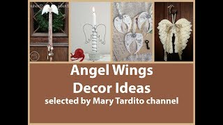 Angel Wings Decor Ideas   Vintage Shabby Chic Decorating Ideas – Christmas Angel Wings Decorations