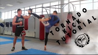 """Обучение удара Торнадо - Tornado kick tutorial 'JNE sport"""""""