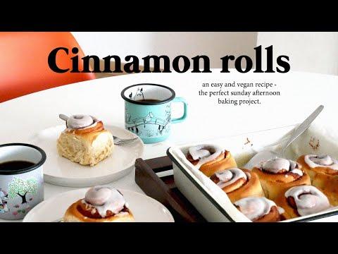 Cinnamon rollsㅣvegan recipe